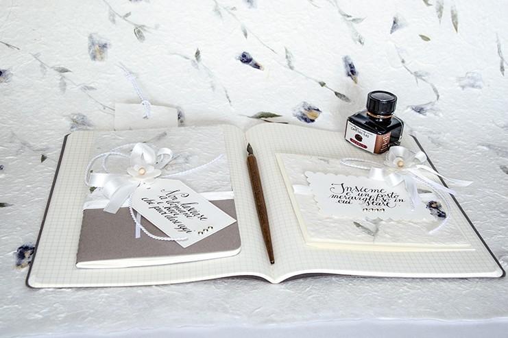 Inchiostro e carta per penne calligrafiche