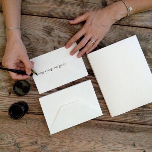 Calligrafia per inviti