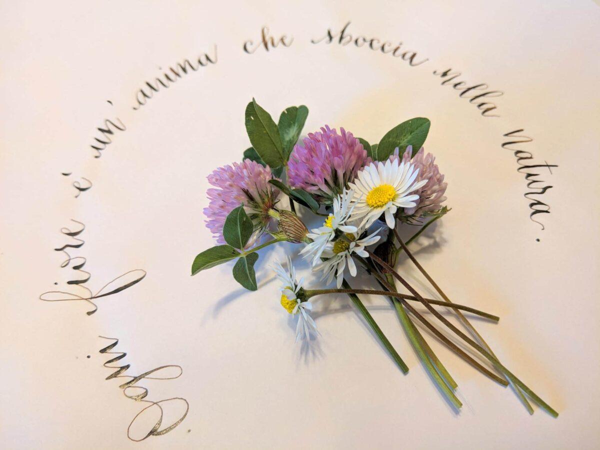 Calligrafia e fiori