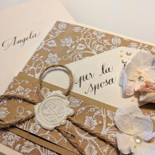 Biglietto personalizzato per la sposa
