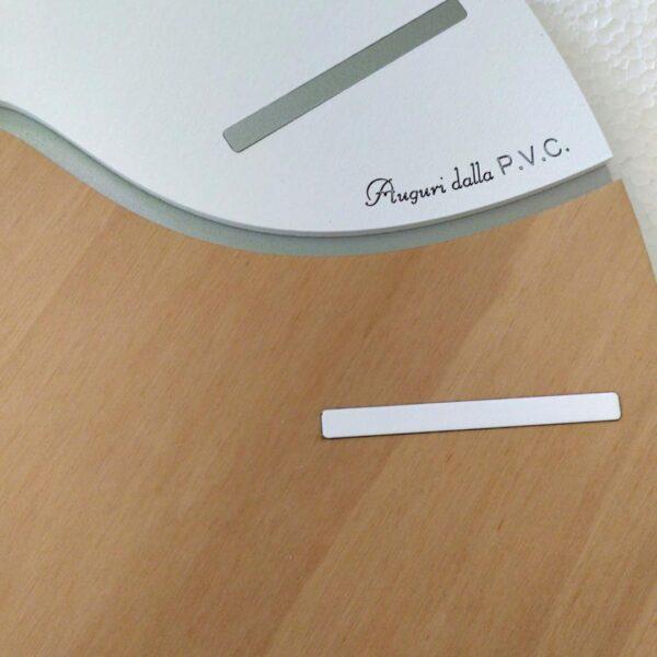 Orologio da parete con incisione personalizzata - dettaglio