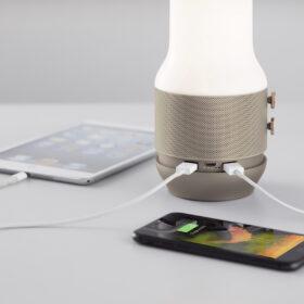 Lampada, speaker Bluetooth e HUB USB Lexon Terrace